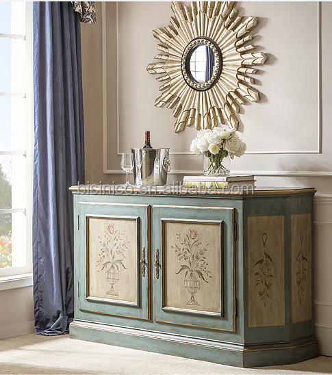 Elegant Home Decorative Side Cabinet,Hand Painted 2-door Console ...