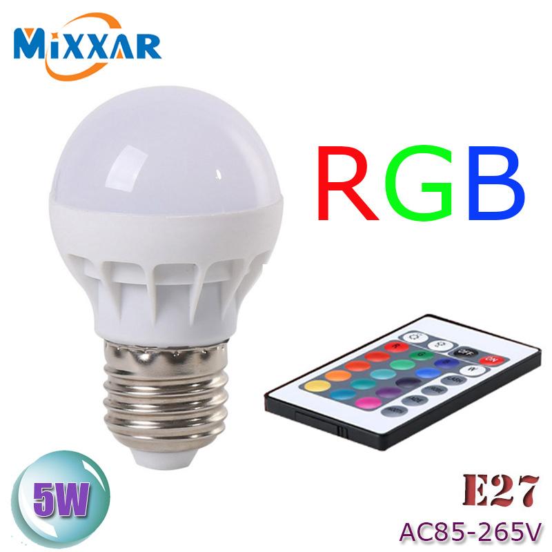 zk50 led rgb bulb lamp ac85 265v e27 5w led rgb spot blubs. Black Bedroom Furniture Sets. Home Design Ideas