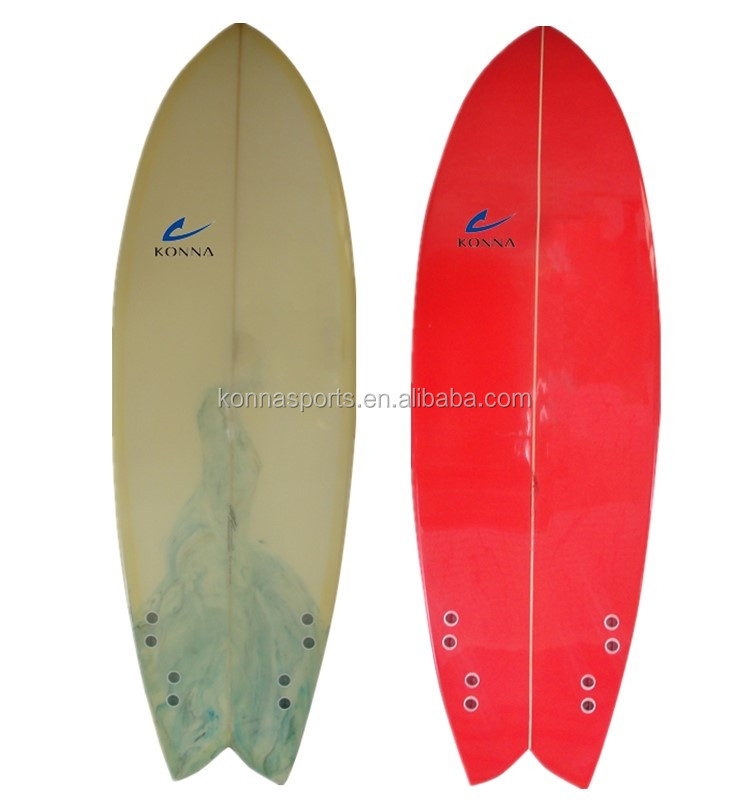 Traditional epoxy foam resin tint retro fish shortboard for Fish surfboard for sale