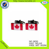 Wholesale custom country flag printed cufflinks with epoxy