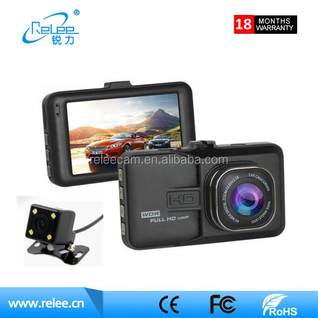 Factory direct metal car rear view camera 3 inch two camera car dashboard 140 angle driver recorder car dvr