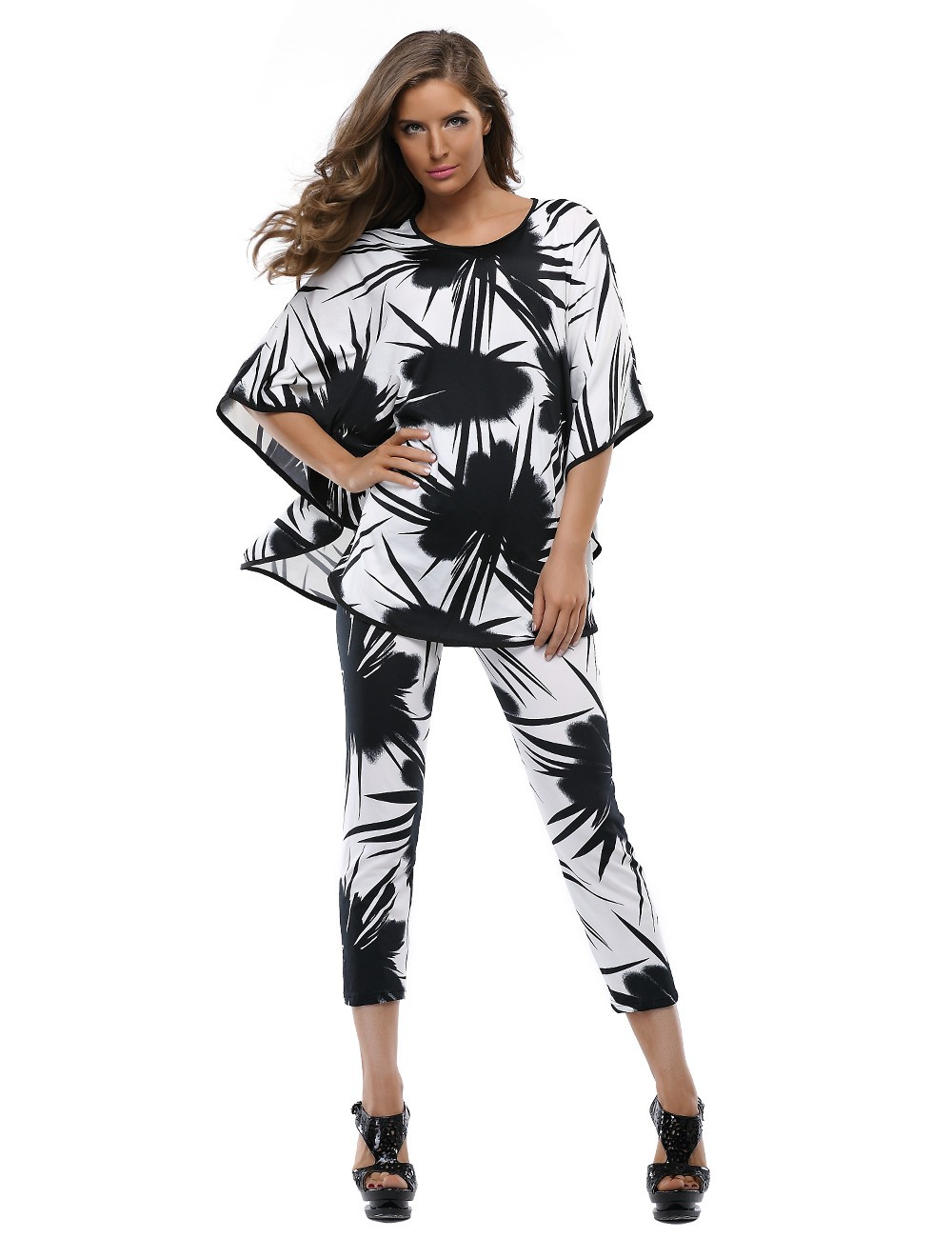 huge discount buy online 2019 authentic 2 Piece Set Casual Pants Suits For Women Batwing Sleeve Tops Women's Sets  African Clothing - Buy Womens Casual Pant Suits,Summer Womens Casual ...