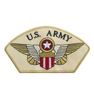 High Quality Custom Army Embroidery Patches Hook Backing for
