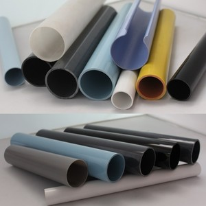 Manufacturer of custom colors circular tube PVC/PC/PMMA customized extrusion plastic multi-purpose rigid pipe