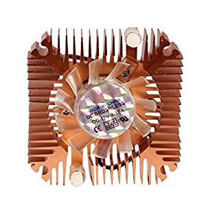 Funnytoday365 Professional 55Mm Cpu Cooler Cooling Fan For Cpu Vga Video Card Bronze Minip4Pm