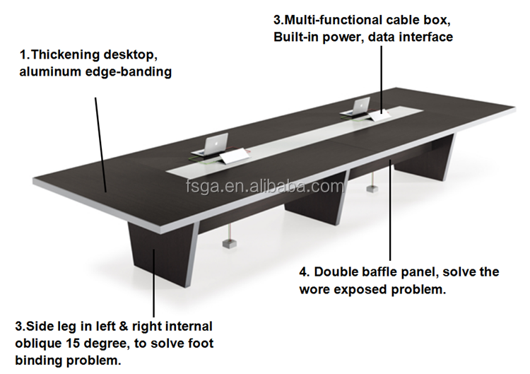 Modern Conference Room Furniture Specifications Office Meeting Table - Conference table measurements