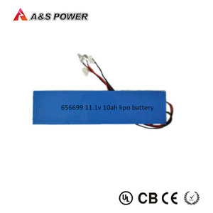 Rechargeable lithium polymer 11.1V 12V 10000mAh 10Ah Lipo battery with PCM