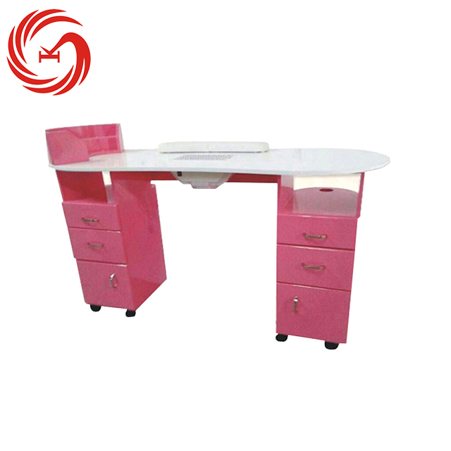 Lovely decoration modern pink nail manicure bar table