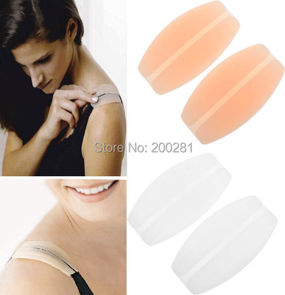 1Pair New Shoulder Strap Pad Bra Shoulders Pads Soft Silicone Bra Strap Cushions Holder Non-slip Shoulder Pads Relief Pain