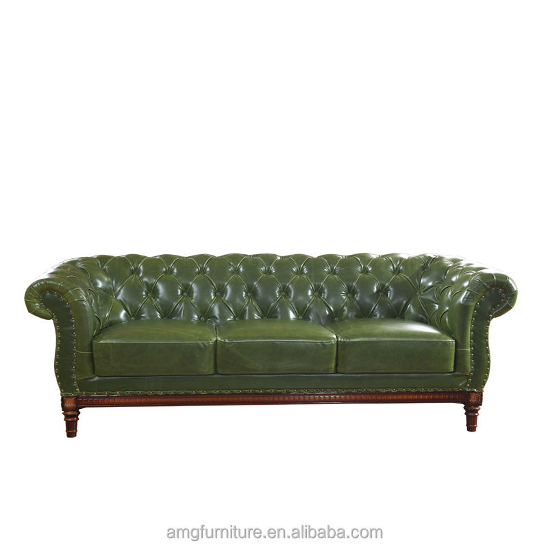 Green Leather Sofa, Green Leather Sofa Suppliers And Manufacturers At  Alibaba