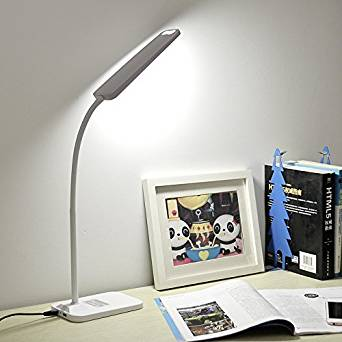 Character Charge Desk Lamp, Modern Brief, Student Study Desk Lamp, Study, Office, Desk Lamp, Eye Lamp, Desk Lamp,White