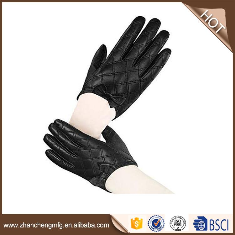 Factory price goat skin leather gloves with great price