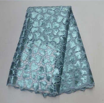 AG2307#8 african clothing for party supplies lace fabric wholesale organza double lace