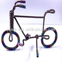 Fashion cute handmade aluminum article colorful bicycle handicraft products