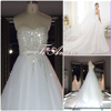 TH-5933cx plus size sweetheart corset wedding dresses sequins floor length sash with princess wedding dress 2015