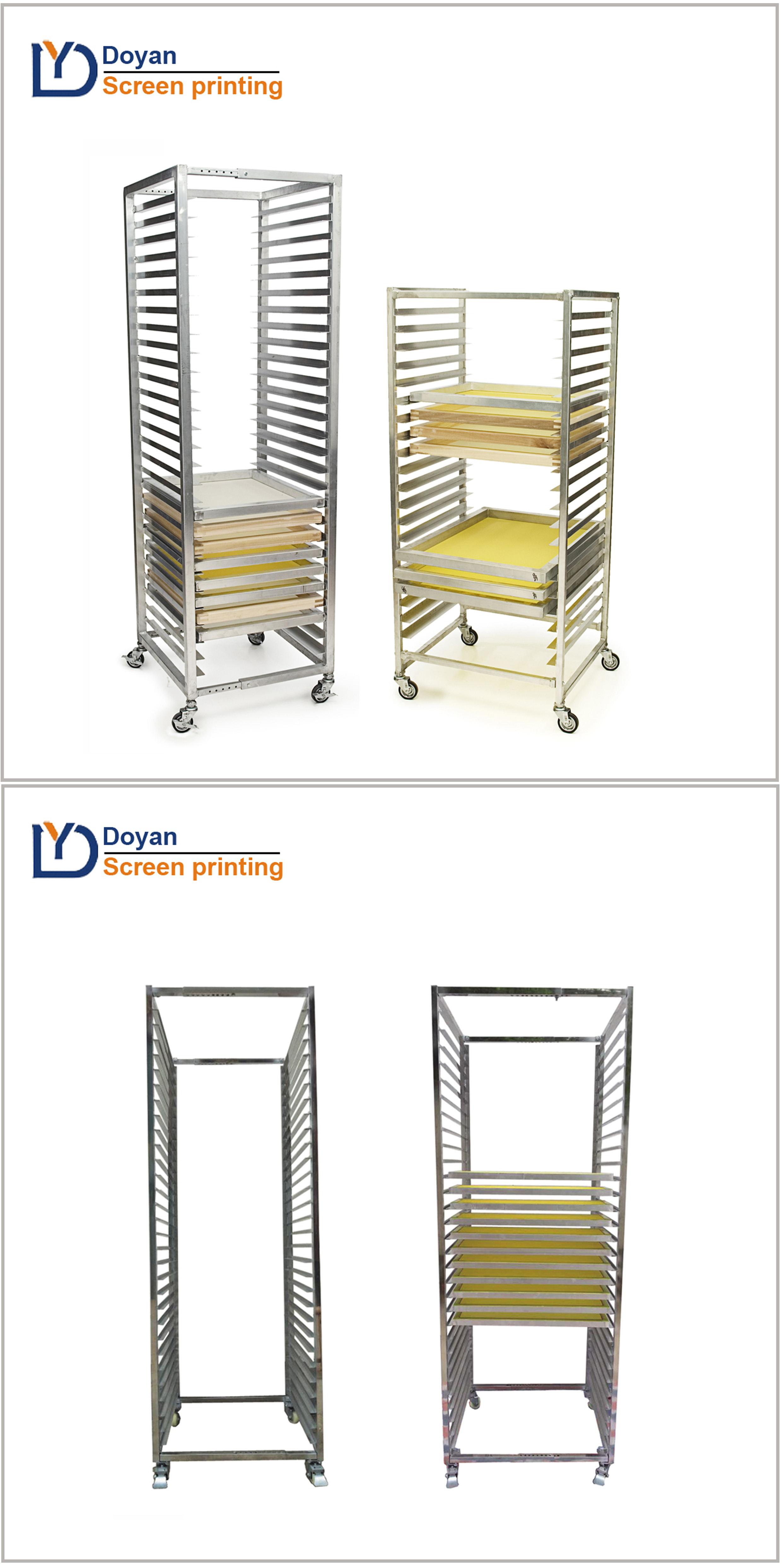 Screen printing frame dry racks