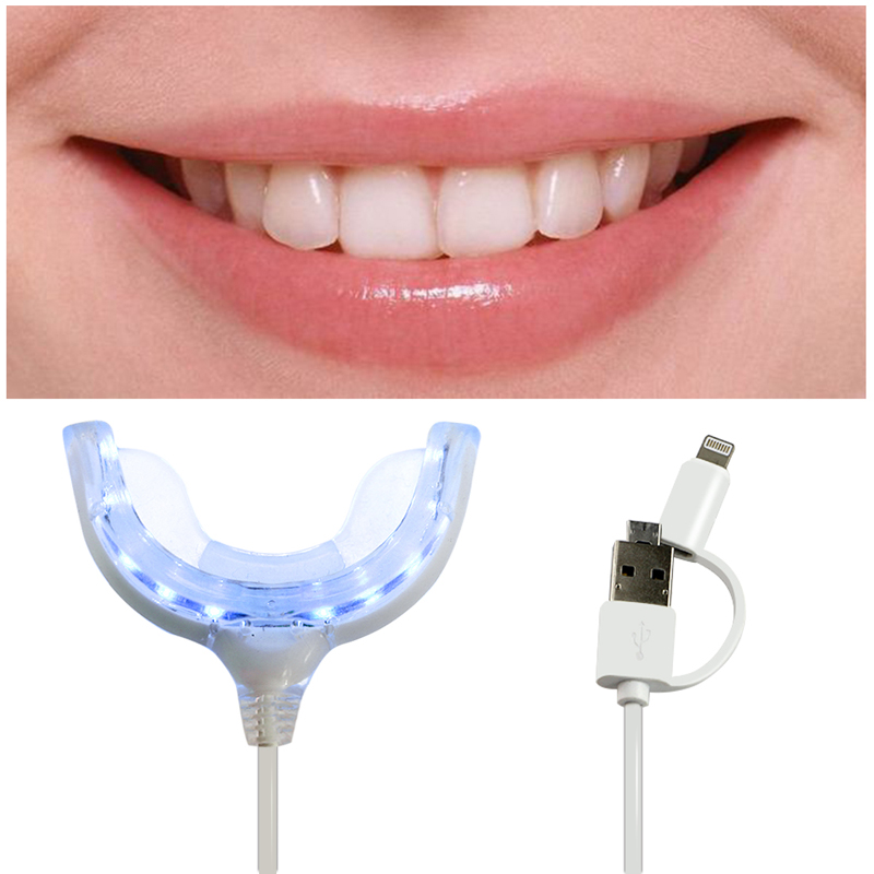Smart phone USB connect teeth whitening Mini white light tooth whitening system led