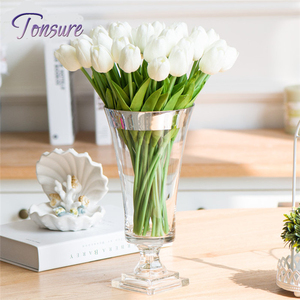 Artificial Tulips fake Flowers PU flowers artificiales para decora o for Home Wedding decoration Flower cheap
