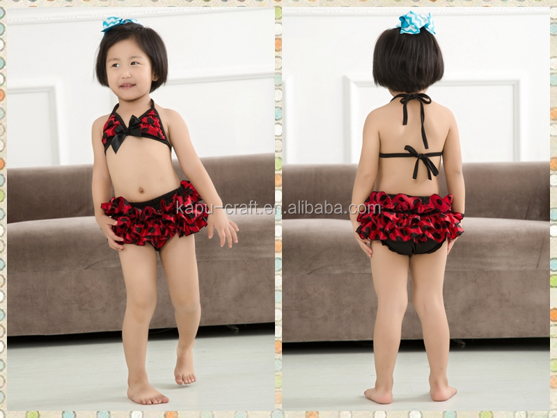 Factory price red black dots children's swimwear kids swinwear a little baby swimwear /sexy kids bikini