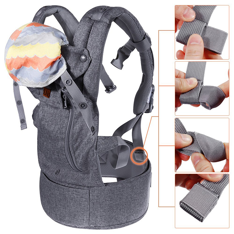 4-in-1 Convertible Carrier 360 Ergonomic Baby Carrier Backpack with Cover for All Seasons