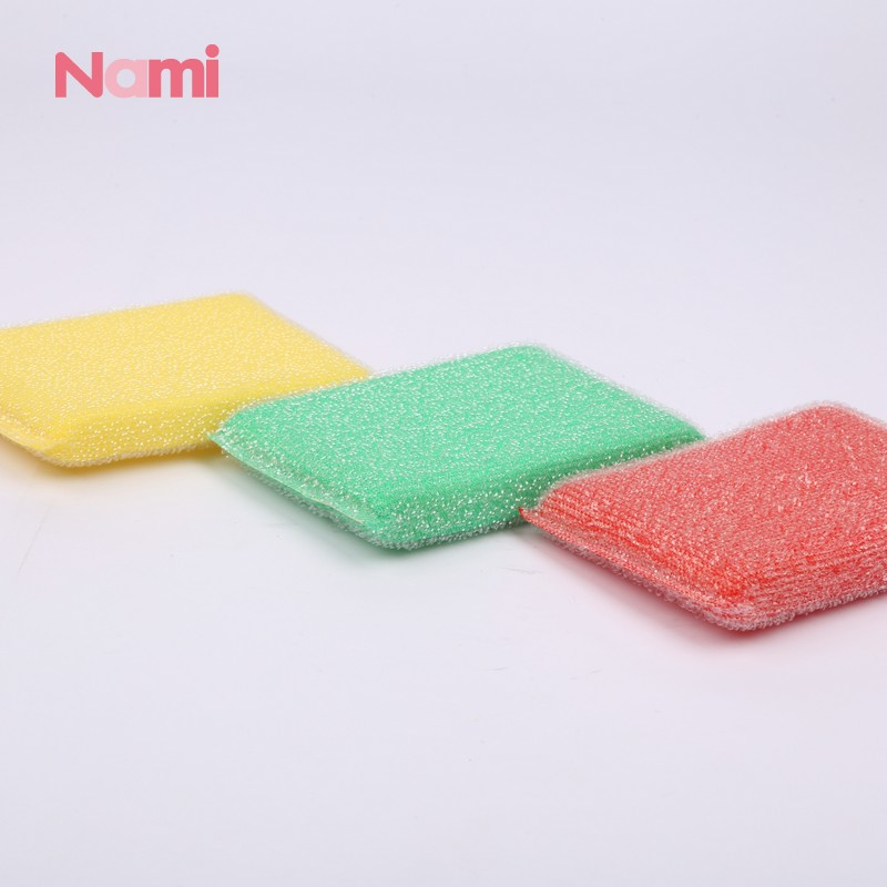 Round Sponge Scouring Pad For Dish Cleaning Polyester Fiber Scouring Pad