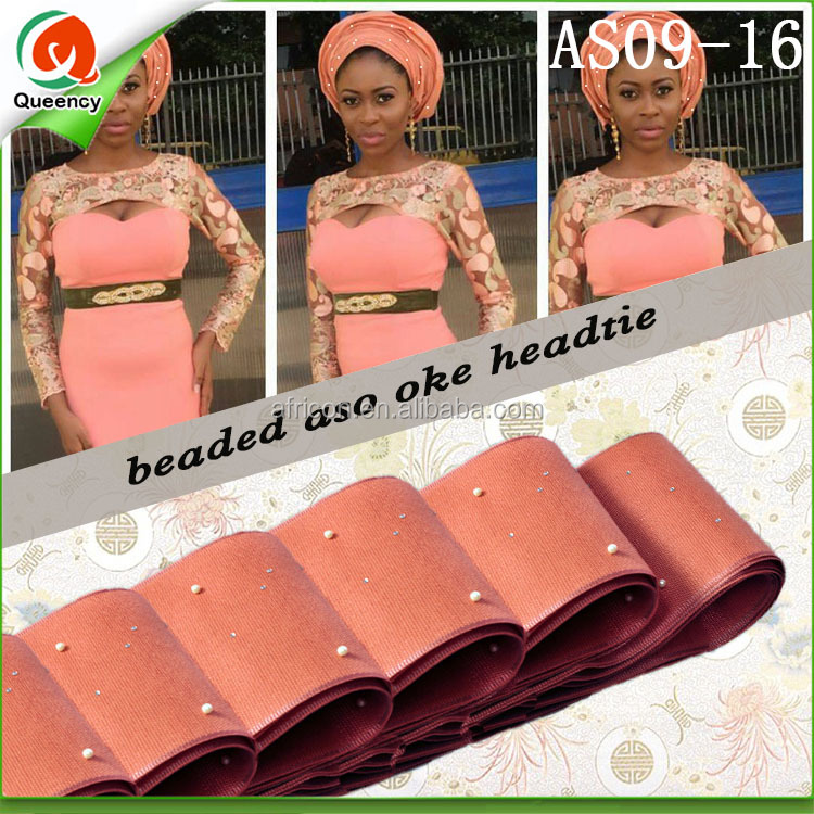 AS09-16 peach african gele african aso oke headtie fashion <strong>Hair</strong> <strong>Accessories</strong> for women