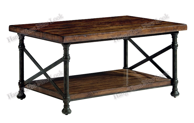 Charmant American Village Loft Style Retro Antique Wood To Do The Old Wrought Iron  Coffee Table A Few Side Tables Bedside Telephone Furni