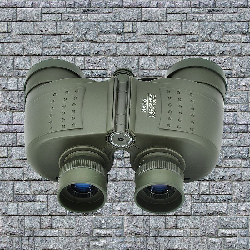 Field Glasses High Quality Outdoor military binoculars 8x36 wide field telescope with rangefinder