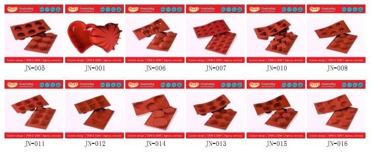 Silicone Cake Baking Molds 1