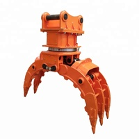 Versatile excavator attachments stone grapple rotating grab for 25ton machine