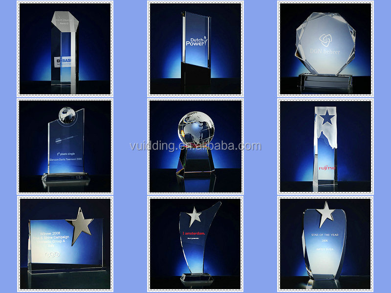 Rising Crystal People Award Trophy For Appreciation Award