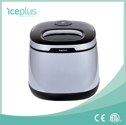CE approved 25kg/24h portable ice cube maker for cooling red wine, ETL approved ice maker