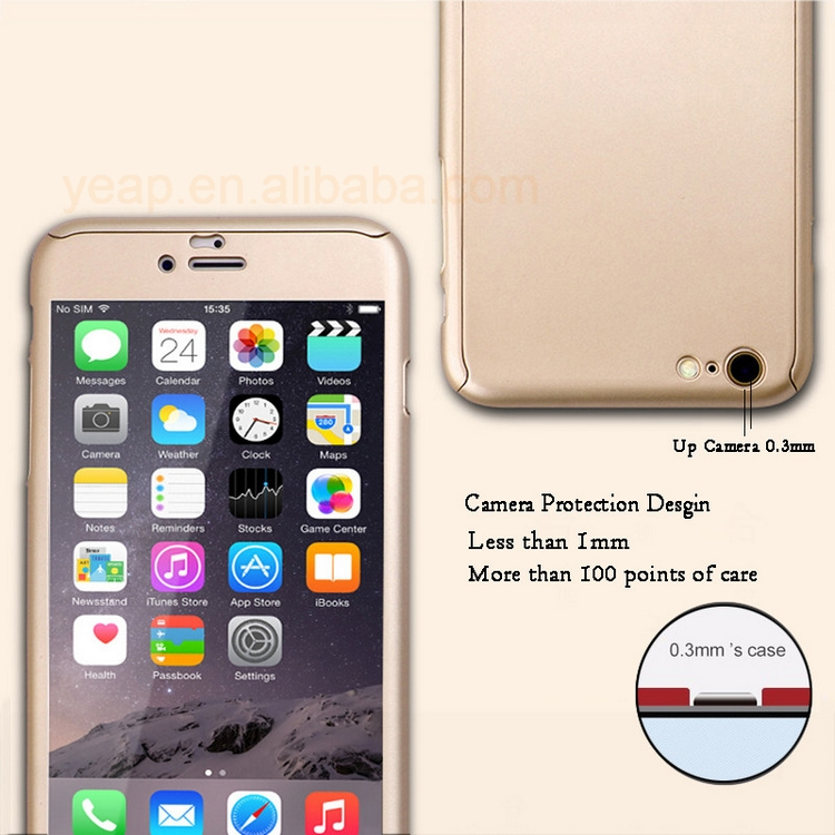 Gratis Pengiriman 360 Phone Case Cakupan Coque For iPhone X 8 PLUS 7 6 6 5 5 S Se Keras PC Pelindung Cover + Layar Film