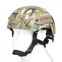 Military Scouting Army Combat Tactical Shooting Safety Fast Helmet Ballistic Bulletproof With Rail Mount