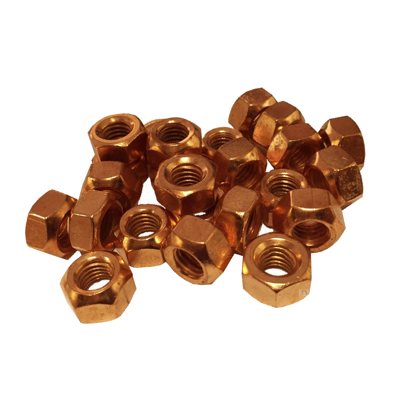 Smarthome 12 x Brass Exhaust Imperial Manifold Nuts 5//16 UNF High Temperature