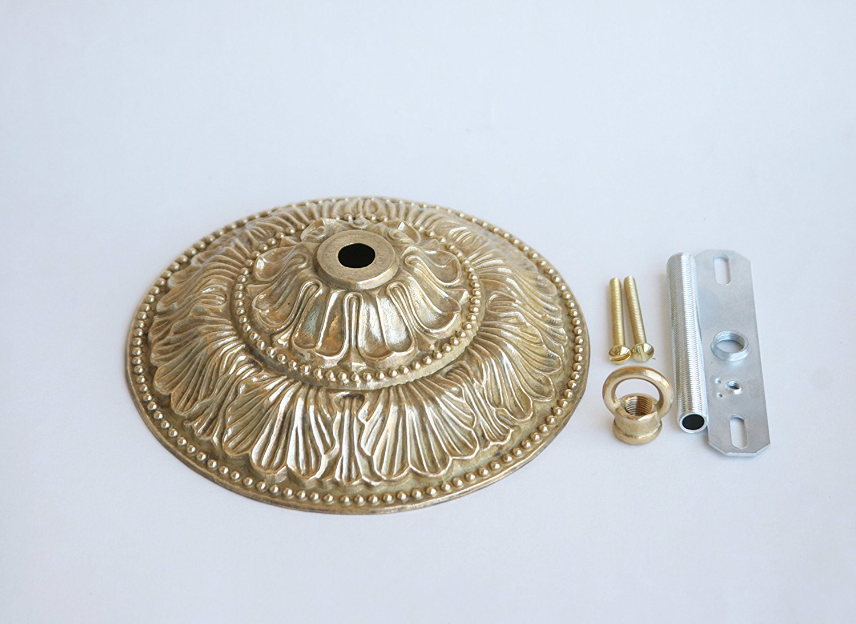 "Orange design Chandelier Unfinished Solid Casting Brass Canopy, Diameter 5-7/8"""