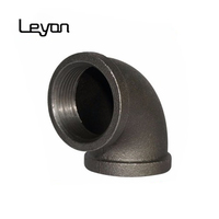 Banded GI or black Cast Iron 90 degree Elbow Pipe Fitting banded cast iron malleable pipe fitting