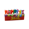 Hot Sale Paraffin Wax Material Colorful Happy Birthday Letter Shape Candles