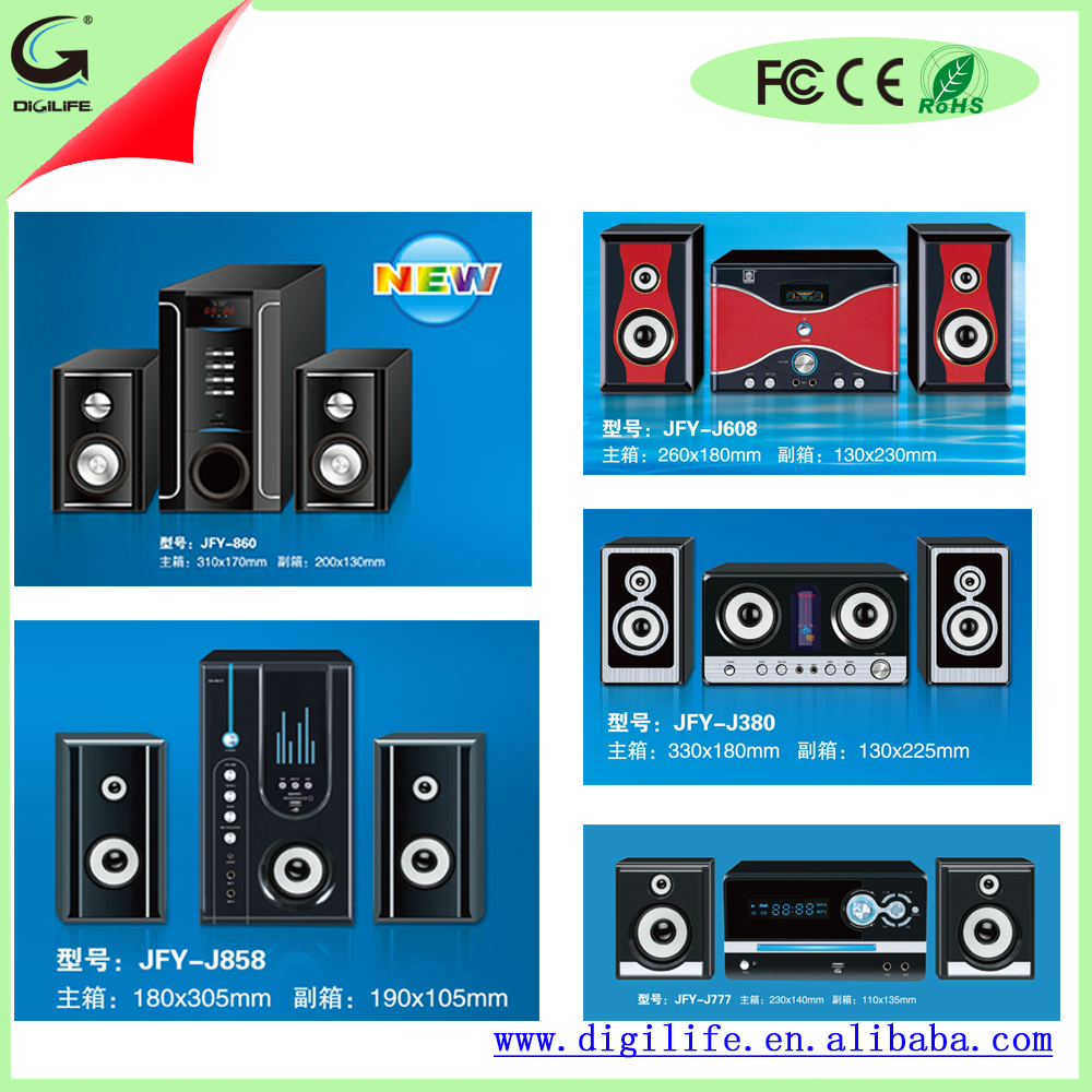 New Design 2.1 Home Theater Bass Speaker With Sound System