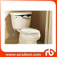 Toilet Monster Hello Bathroom Decal Funny Creative Vinyl Sticker Wall Art