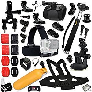 Xtech® Ultimate ACCESSORIES Kit for GOPRO HERO4 SESSION, HERO4 Hero 4 3+ 3 2 1 Hero 4 Black Hero 4 Silver Hero 3 White Hero 3 Silver Hero 3 Black Hero 960 Surf Hero ACCESSORIES KIT Includes: Extendable Monopod Pole + Chest Strap Mount + Head Strap Mount + Bike Handlebar Mount + Suction Cup Car