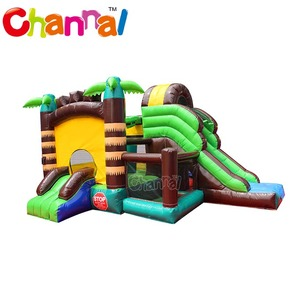 Mini jungle bouncer slide inflatable commercial inflatable castle