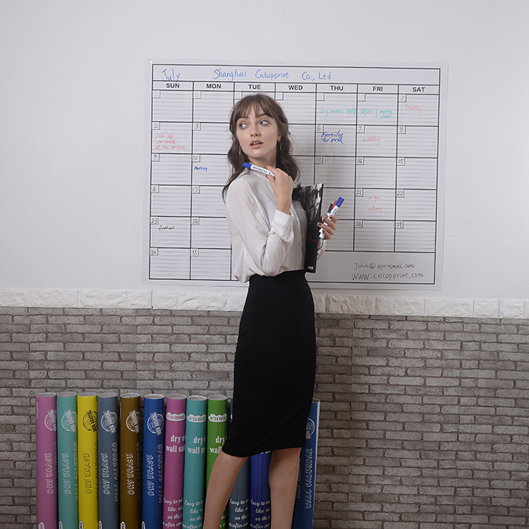 Professional factory 2019 Top Quality year wall calendar dry erase