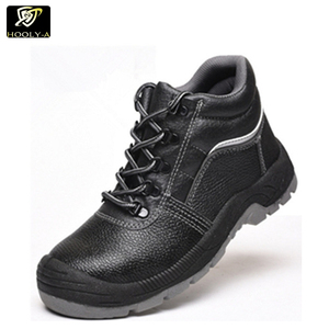 Wholesale Men's Work Shoes leather Waterproof Steel Toe Work Safety Boots Men