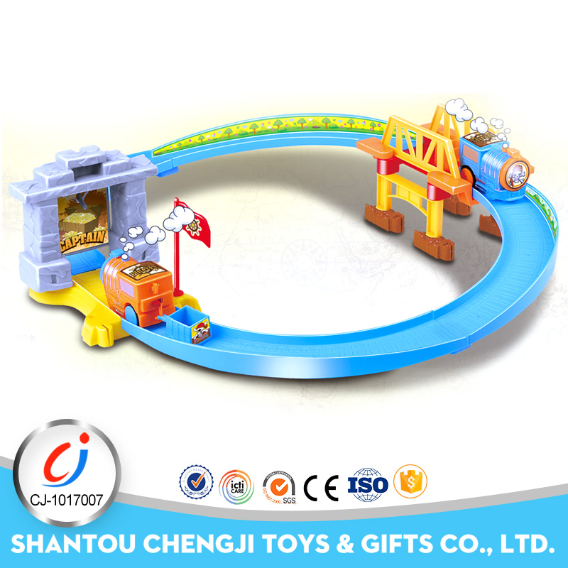 New slot toy set electrical plastic car race track with music