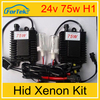 High quality xenon hid kit 24v 9004 xenon hid kit h7 75w hid lamps for car