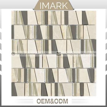 IMARK Trapez Glas Und Stein Mosaik Fliesen Backsplash Fliesen Für Küche  Wanddekoration