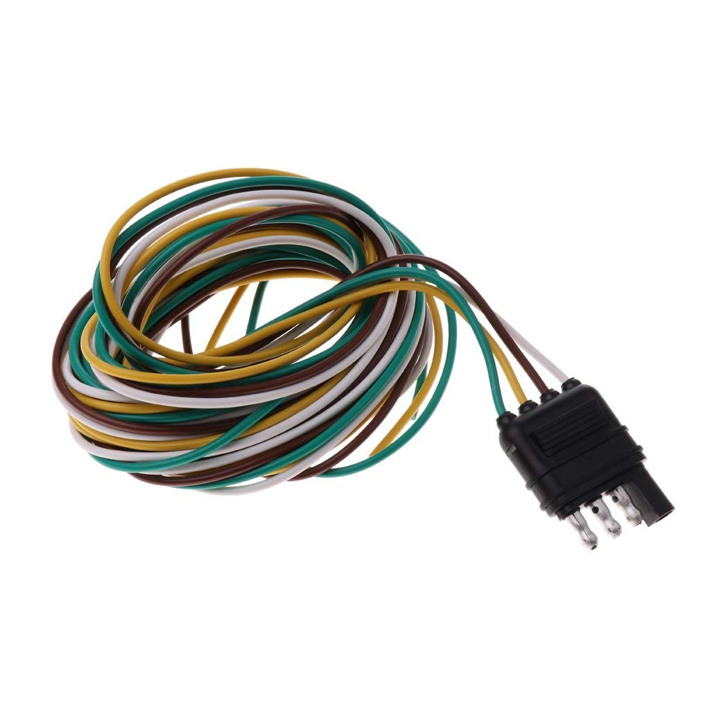 Cheap Trailer Light Wiring Adapter Find Harness Get Quotations Magideal 300cm 4 Pin Rv Line Plug Flat Cable Connector