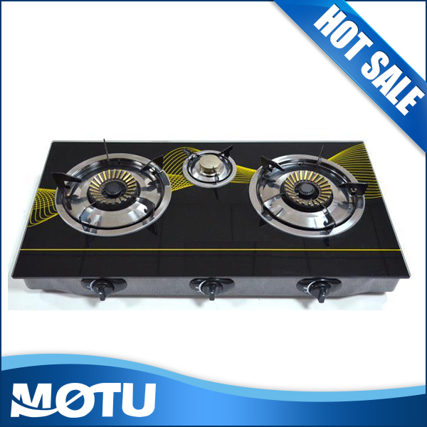 High-temperature panel 3 burners gas stove / gas cooker