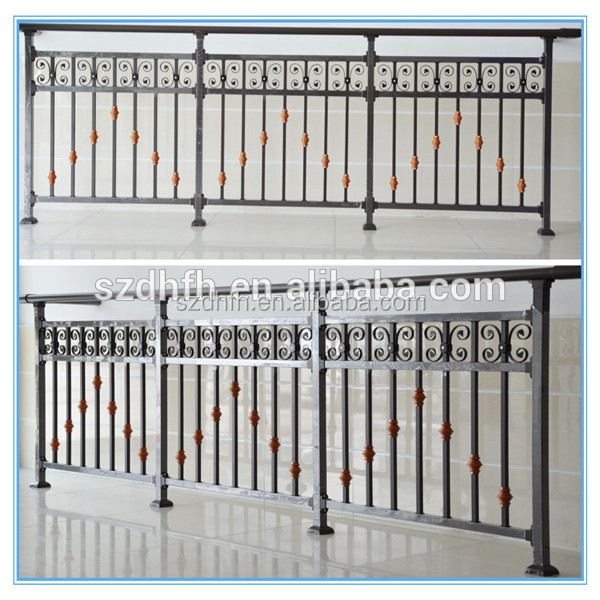 Balcony grill design outdoor wrought iron railings house for Terrace tubular design